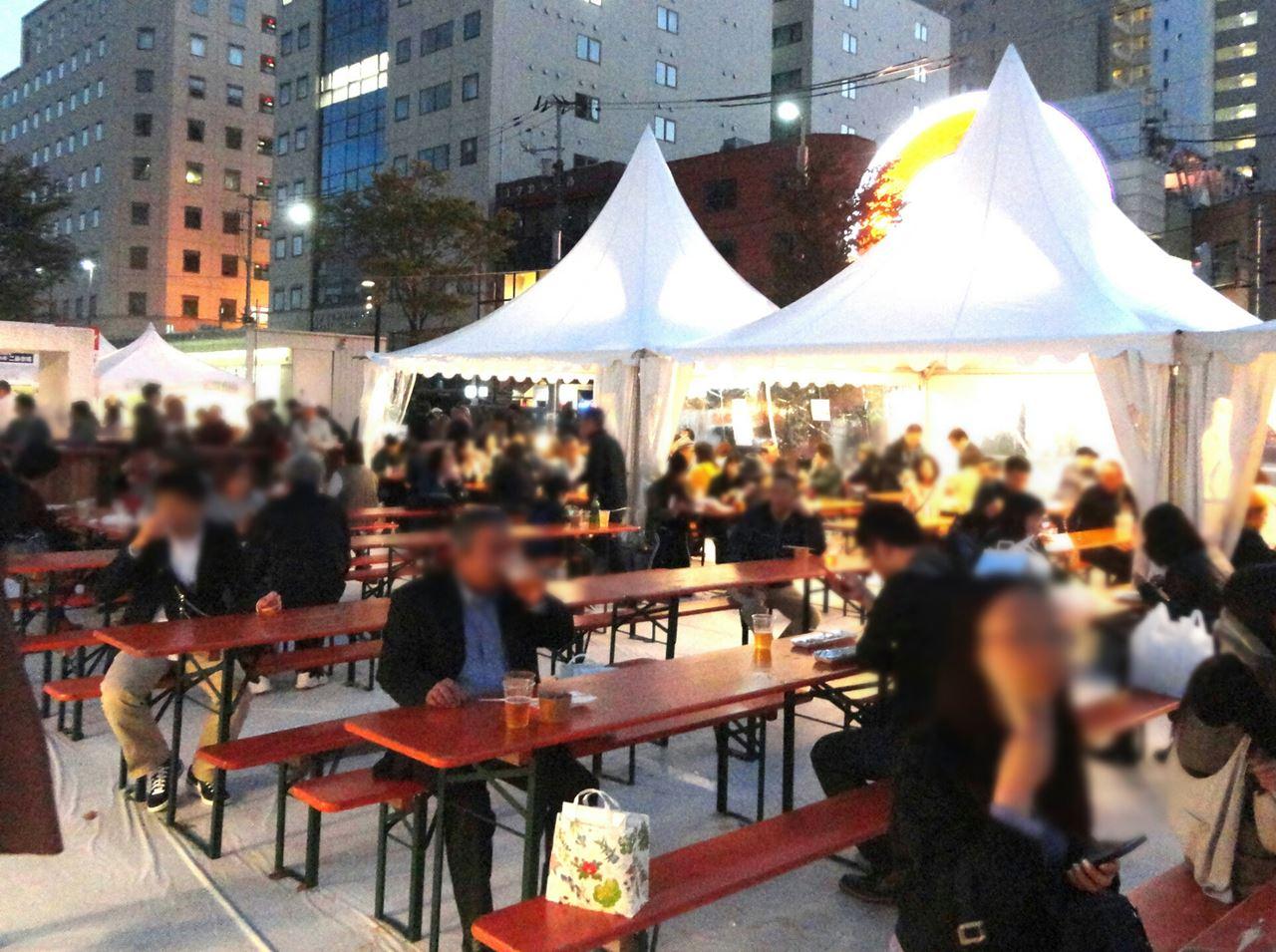 札幌グルメイベント・イートインスペース