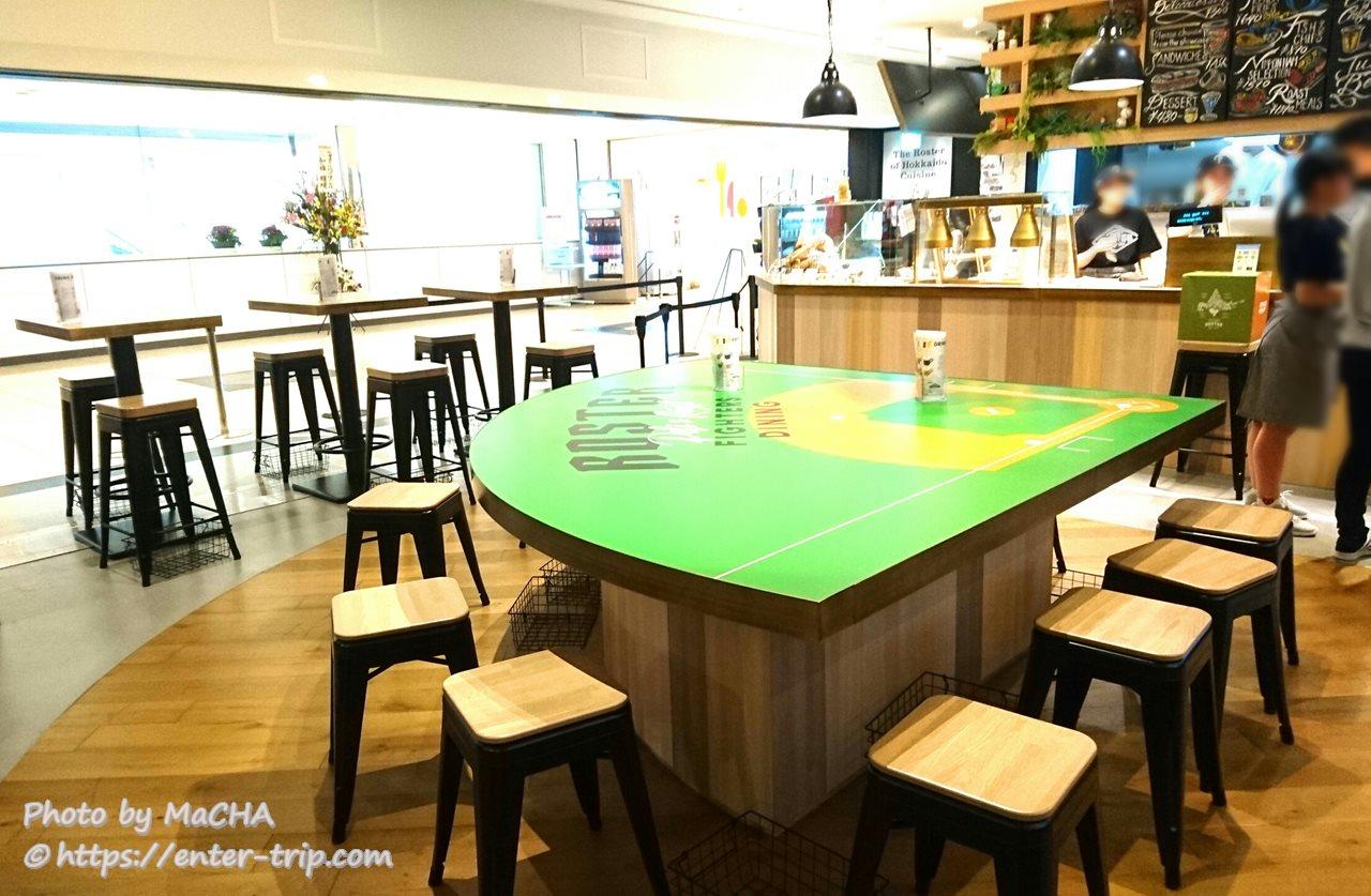 北海道日本ハムファイターズカフェダイニングロスター