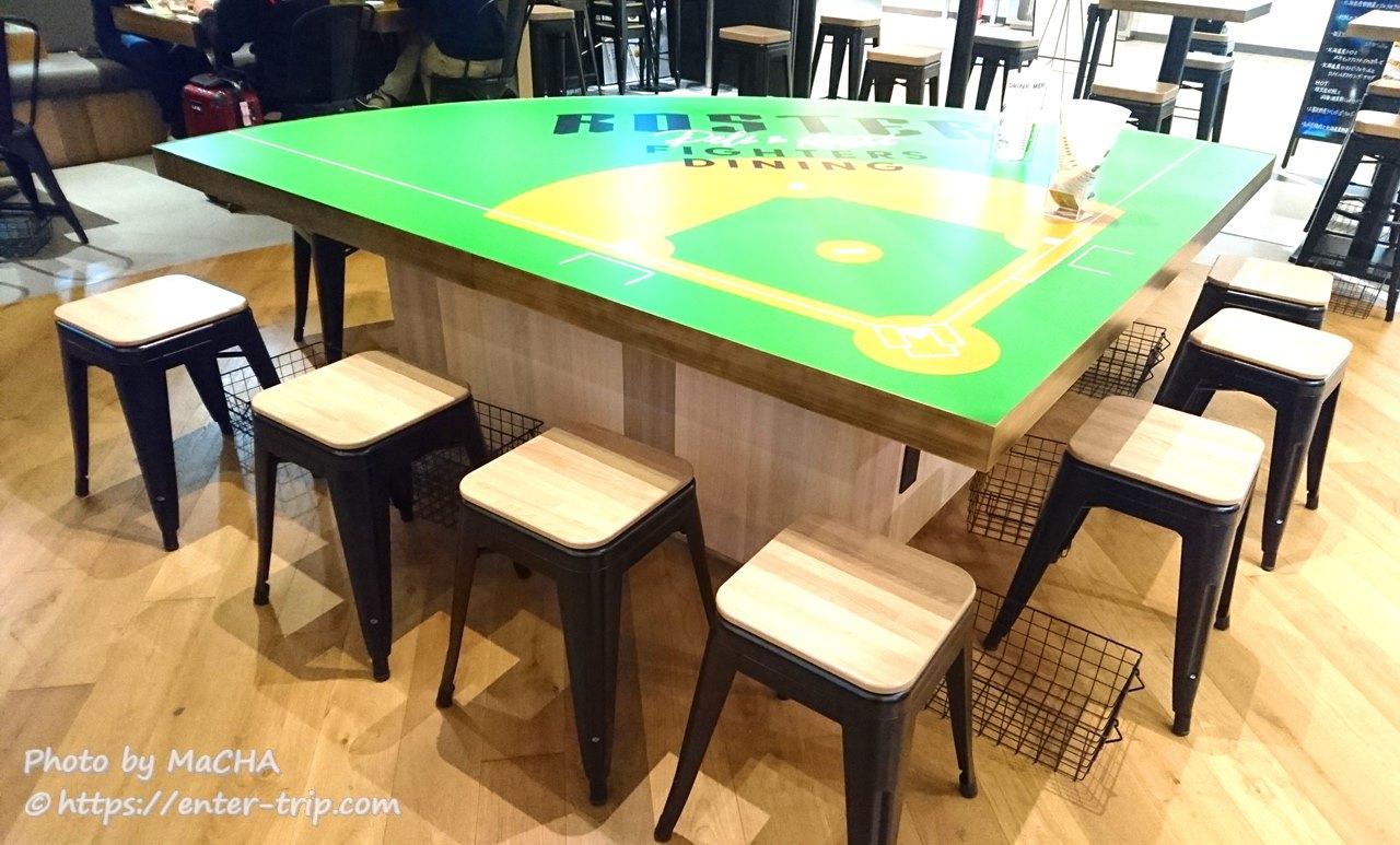 日ハム・ファイターズダイニングロスター内観テーブル