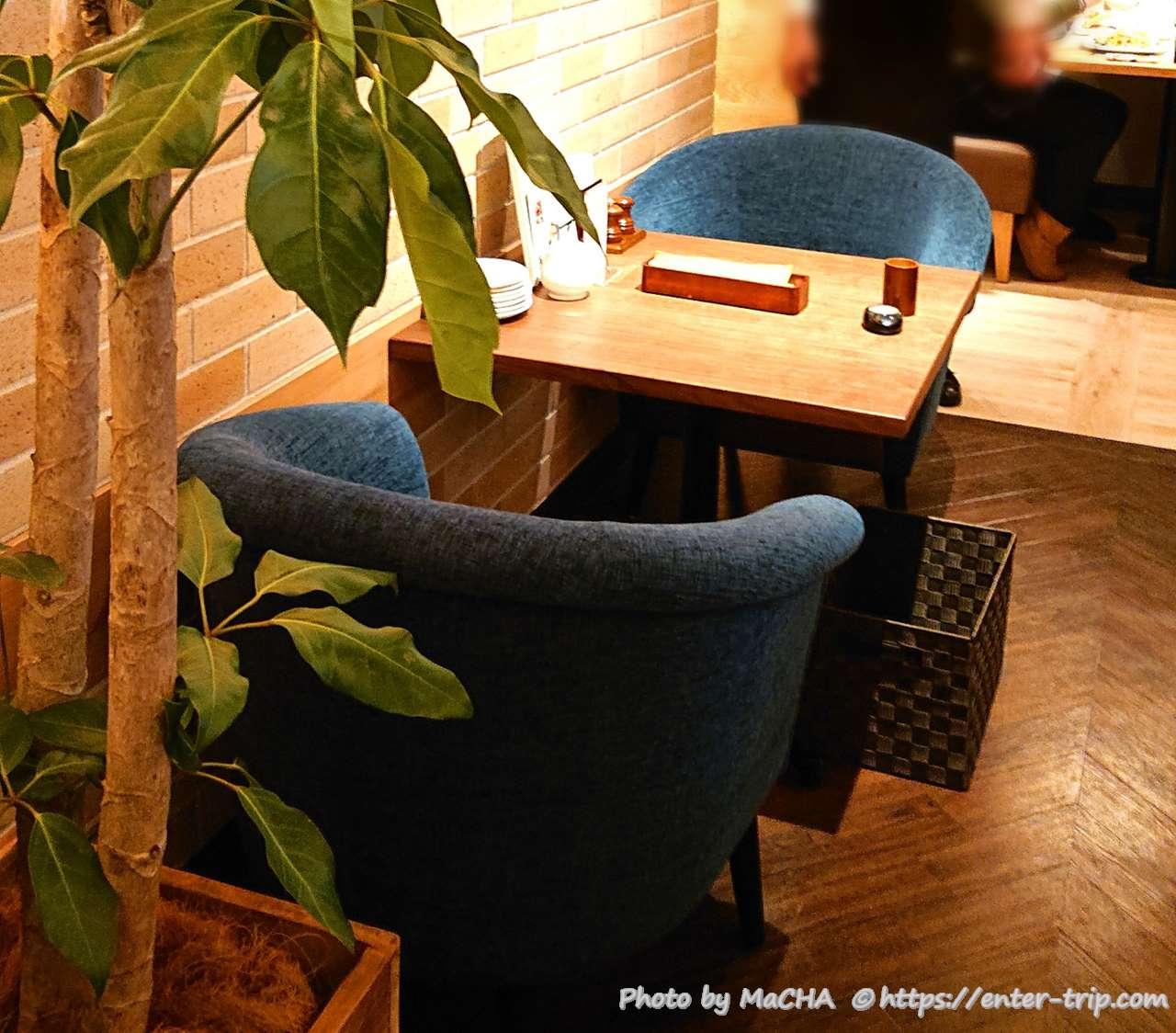 むさしの森珈琲 2人掛け テーブル席