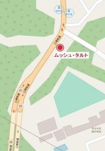 横須賀・カフェ「ムッシュ・タルト」地図